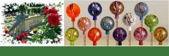 rosenkugeln gartenkugeln durstkugeln glaskugeln aus lauscha geschenke onlineshop unser. Black Bedroom Furniture Sets. Home Design Ideas