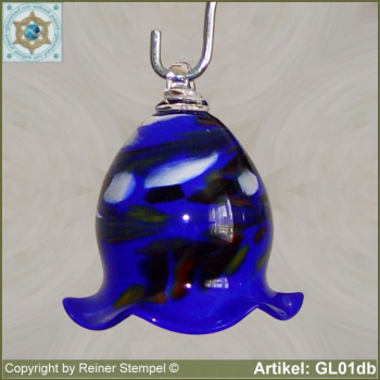 Glass bell, very decorative in color and shape GL01db.