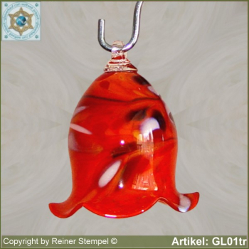 Bell made of glass, glass bell GL01tr
