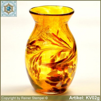 Glass vase pitcher vase decorative in color and shape KV02g