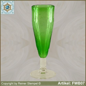forest glass champagne glass historical replica