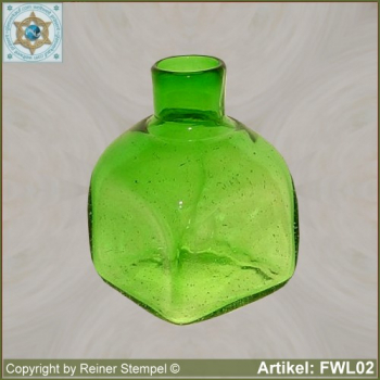 Forest glass vase square with round opening historical replica