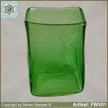 Forest glass box vase historical replica