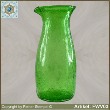 Forest glass carafe vase historical replica