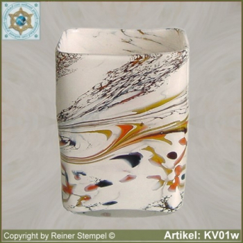 Glass vase box vase decorative in color and shape