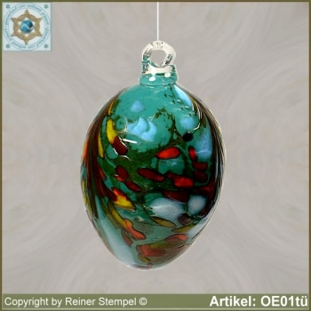 Easter eggs made of glass colorful Easter decoration OE01tü