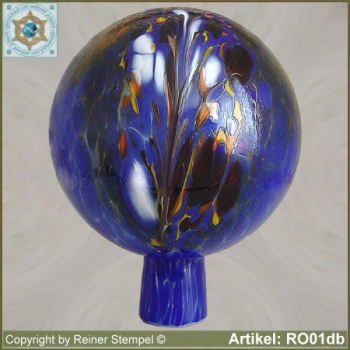 Roses ball, garden ball made of glass