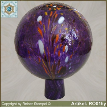 Roses ball glass garden ball winterproof 12 cm or 15 cm ø hyacinth RO01hy