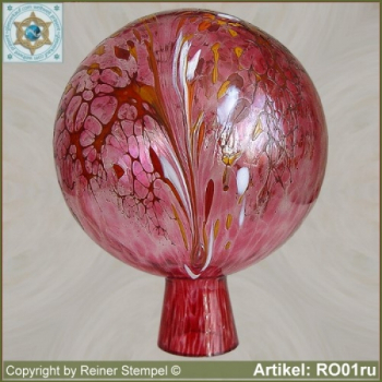 Roses ball glass garden ball winterproof 12 cm or 15 cm ø ruby RO01ru