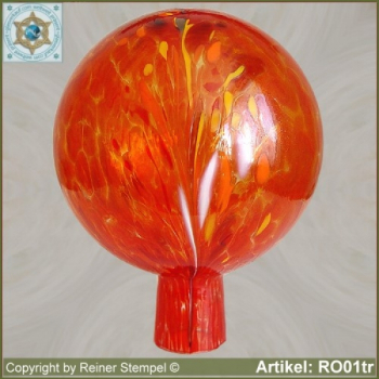 Roses ball glass garden ball winterproof 12 cm or 15 cm ø tomato red RO01tr