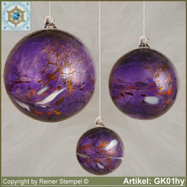 Glass ball as glass decoration, exklusive, unique