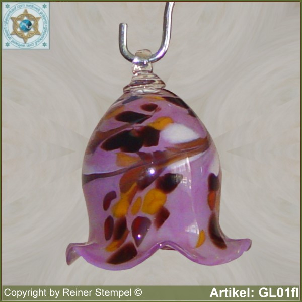 Glass bell, very decorative in color and shape GL01fl.