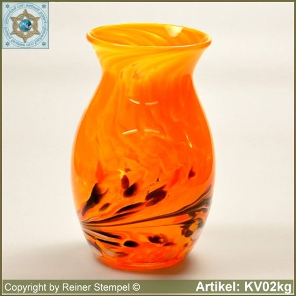 Glass vase pitcher vase decorative in color and shape KV02kg