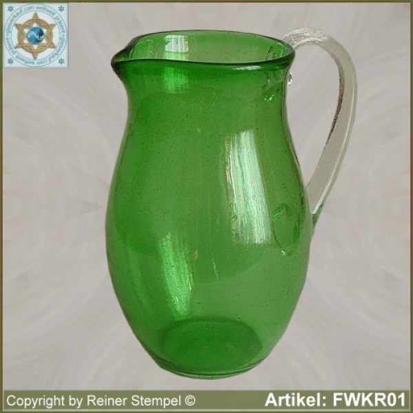 forest glass pitcher historical replica