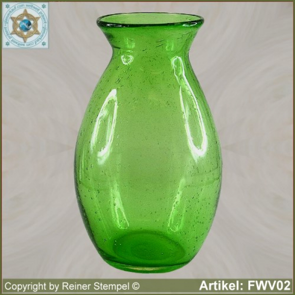 Forest glass picher vase historical replica