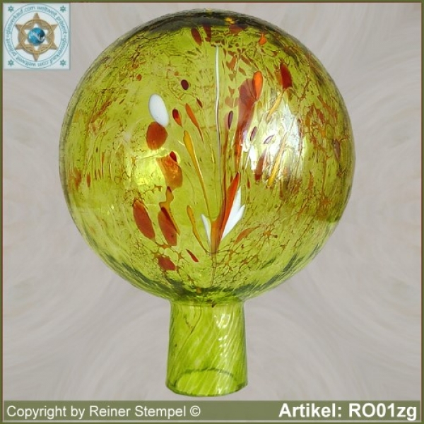 Roses ball glass garden ball winterproof 12 cm or 15 cm ø lemon