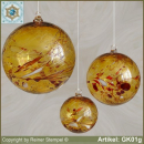 Glass ball as glass decoration, exklusive, unique GK01g