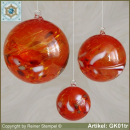 Glass ball as glass decoration, exklusive, unique GK01tr