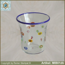Glasbecher in Millefiori Design MIB01db