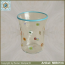 Glasbecher in Millefiori Design MIB01hb