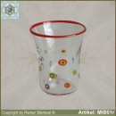 Glasbecher in Millefiori Design MIB01r