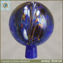 Roses ball, garden ball made of glass RO01db
