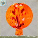 Roses ball glass garden ball winterproof 12 cm or 15 cm ø orange RO01o